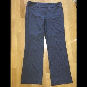Charcoal gray Ann Taylor origins dress trouser